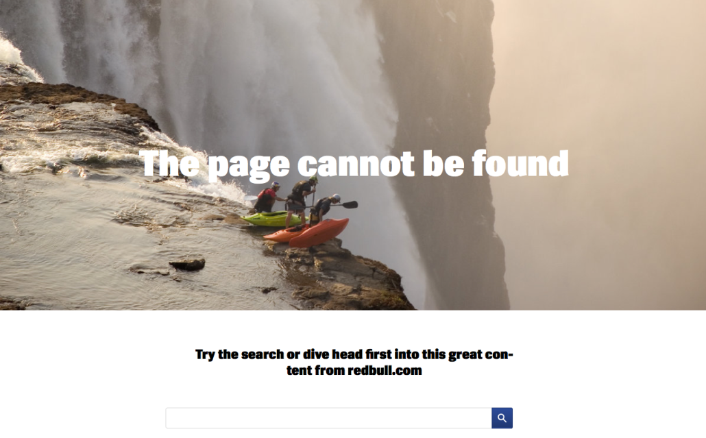 the page cannot be found extreme sports
