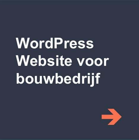 wordpress website bouwbedrijf