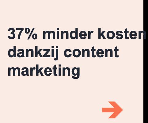 minder kosten content marketing