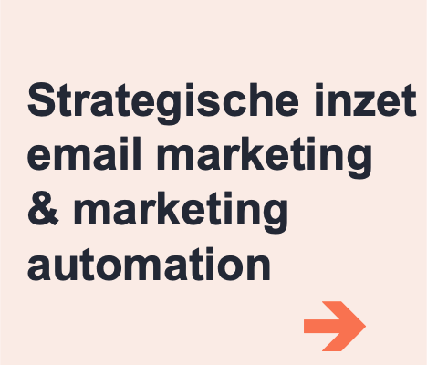 strategische inzet email marketing automation