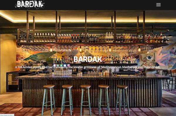 website laten maken cocktailbar amsterdam