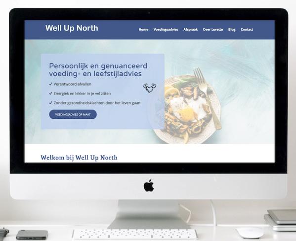 nieuwe wordpress website voor dietist