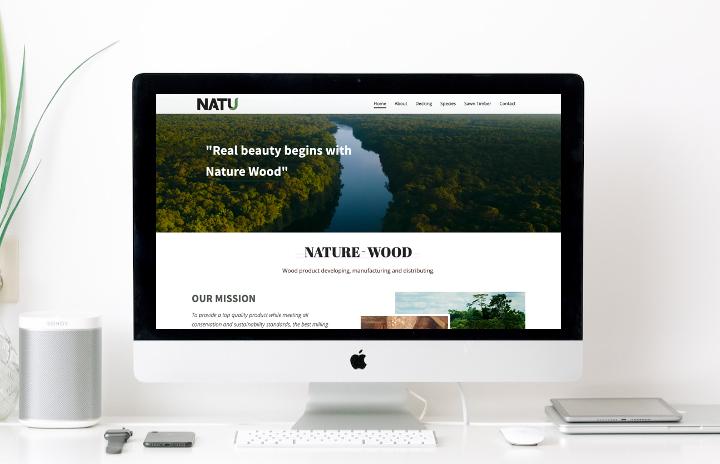 voorbeeld van een website gemaakt met WordPress